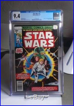 Star Wars #1 CGC 9.4 (OW-W) Marvel Comics July 1977 New Hope Movie Adaptation
