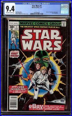 Star Wars 1 CGC 9.4 OWithW (Marvel, 1977) 1st appearance Star Wars characters