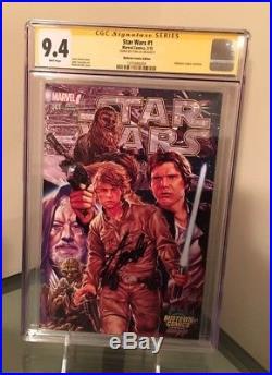 Star Wars #1 CGC 9.4 SS Stan Lee John Cassaday Mark Brooks Cover Variant Edition