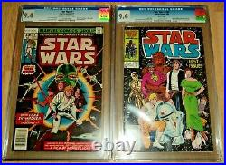 Star Wars #1 CGC 9.4 & Star Wars #107 CGC 9.4 Both Newstand 1st Print