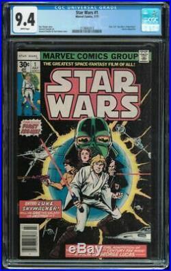 Star Wars #1 CGC 9.4 White 1977 Marvel