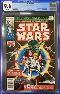 Star Wars #1 CGC 9.6 1st Print 1st Appearance (Jul 1977, Marvel) Not 9.8