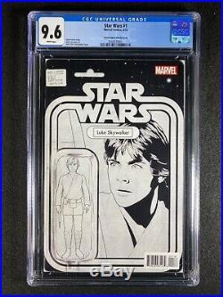 Star Wars #1 CGC 9.6 (2015) Action Figure Sketch Cover Luke Skywalker