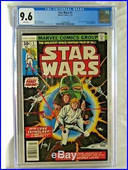 Star Wars 1 CGC 9.6, Marvel 1977, Begin Movie Adaptation, White Pages
