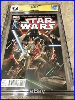 Star Wars 1 CGC 9.6 SS Stan Lee Auto Alex Ross Variant Rise Skywalker 2018 Movie