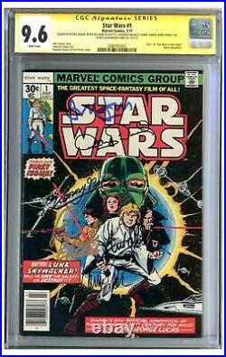 Star Wars #1 CGC 9.6 Signed by Fisher, Ford & Hamill
