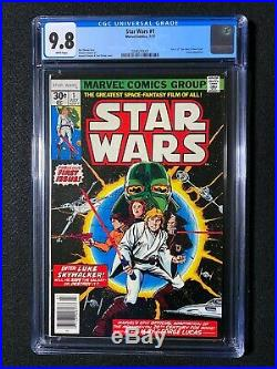 Star Wars #1 CGC 9.8 (1977) Part 1 of Star Wars a New Hope