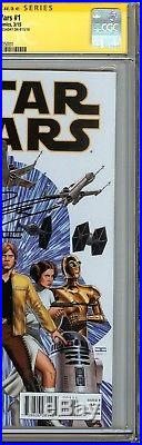 Star Wars #1 CGC 9.8 NM/MT SIGNED JOHN CASSADAY HAN SOLO LUKE SKYWALKER MARVEL