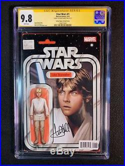 Star Wars #1 CGC 9.8 SS (2015) Action Figure Variant Signed by Mark Hamill