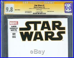 Star Wars #1 CGC 9.8 SS 2x STAN LEE & PROWSE Partial blank cover George Lucas