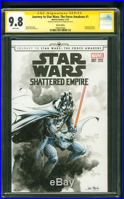 Star Wars 1 CGC 9.8 SS Darth Vader Immortal Sketch Rise of Skywalker Movie