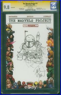 Star Wars 1 CGC 9.8 SS Dave Dorman Boba Fett Original art Sketch Marvels Pro