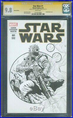 Star Wars 1 CGC 9.8 SS Edwards Tusken Raider Original art Sketch Rise Skywalker