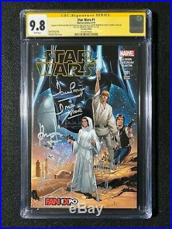 Star Wars #1 CGC 9.8 SS Signed 5x Ford, Fisher, Mayhew, Williams, Prowse