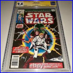 Star Wars #1 CGC SS 9.4 (NM / 1977) Signed by Harrison Ford A New Hope Part 1