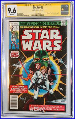 Star Wars #1 CGC SS 9.6 NM+ SIGNED STAN LEE 1st ISSUE 1977 White Pages, New Hope