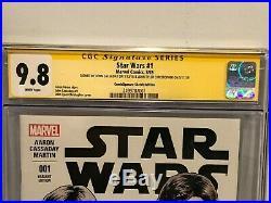 Star Wars #1 CGC SS 9.8 Signed by John Tyler Christopher & John Cassaday