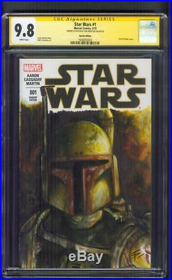 Star Wars 1 CGC SS 9.8 Tim Proctor Boba Fett Original art Sketch 2015