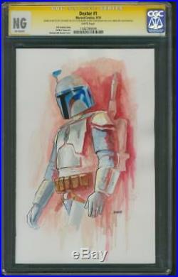 Star Wars 1 CGC SS Jango Boba Fett original art Sketch Rise of Skywalker up 9.8