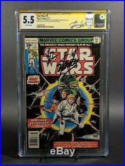 Star Wars #1 Cgc 5.5 Ss Signed By Stan Lee, Plamer, Thomas, Chaykin