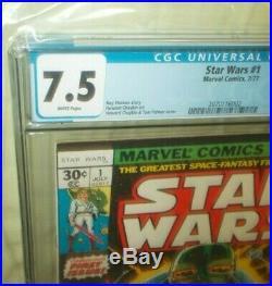 Star Wars # 1 Cgc 7.5 New Case 1977 1st Appearance Skywalker Vader 1st Print