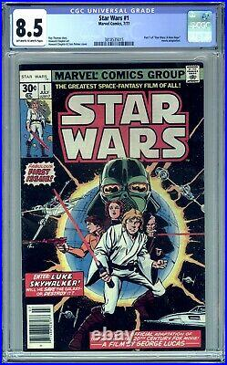 Star Wars #1 Cgc 8.5 Vf+ (1977 Marvel) First Printing A New Hope! No Reserve