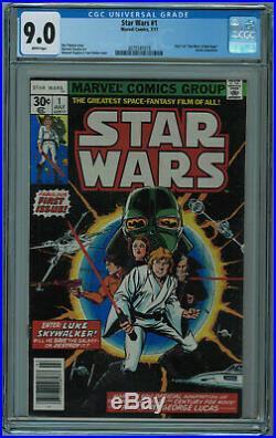 Star Wars #1 Cgc 9.0 1st Star Wars In Comics High Grade White Pgs 1977