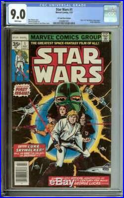 Star Wars #1 Cgc 9.0 White Pages