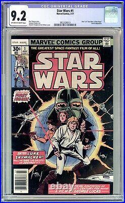 Star Wars #1 Cgc 9.2 Nm- 1977 Marvel Comics, First Print- A New Hope! No Reserve