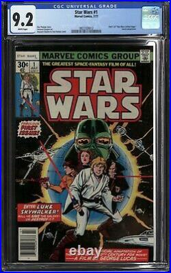 Star Wars #1 Cgc 9.2 Nm- (1977 Marvel) White Pages, First Printing- A New Hope