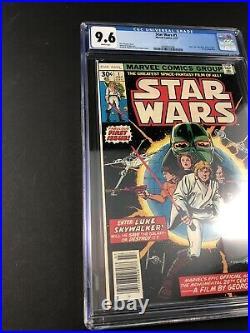 Star Wars #1 Cgc 9.6 First Print 1st Luke 1st Leia 1st Vader Marvel (1977)