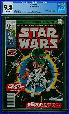 Star Wars #1 Cgc 9.8 Mint 1977 1st Print New Hope 1st Star Wars Looks Like 9.9