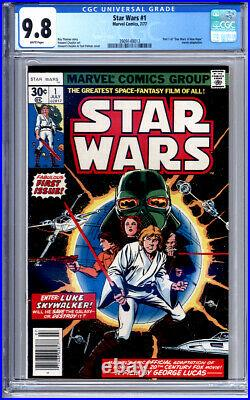 Star Wars #1 Cgc 9.8 White Pages Original First Print Classic Key Issue 1977