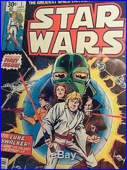 Star Wars # 1 Cgc Ss 9.4 Nm Signed Cover Artist Howard Chaykin Black Kiss Jul77