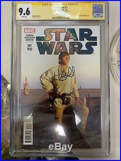 Star Wars 1 Cgc Ss 9.6 Signed By Mark Hamill Luke Skywalker Graded