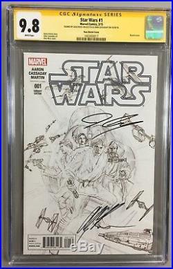 Star Wars #1 Cgc Ss 9.8 1200 Sketch Variant Signed By Alex Ross & John Cassaday