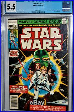 Star Wars #1 Cgc Universal Grade 5.5 Fabulous First Issuemovie Adaptation