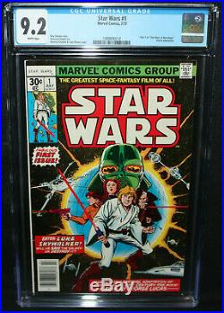 Star Wars #1 Howard Chaykin A New Hope Movie Adaptation CGC Grade 9.2 1977