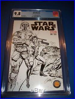 Star Wars #1 J Scott Campbell Cargo Hold Sketch Variant CGC 9.8 Boba Fett Solo