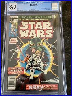 Star Wars #1 (Jul 1977, Marvel) CGC 8.0