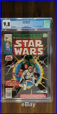 Star Wars #1 (Jul 1977, Marvel) CGC 9.8 perfect centering! White Pages