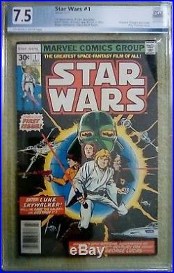 Star Wars #1 (Jul 1977, Marvel) PGX 7.5 VF- 1st Print 30 Cent Square Box