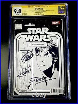 Star Wars 1 Luke Action Figure Sketch 9.8 C2E2 Lee Hamill JTC RARE RRP