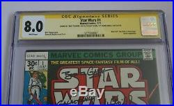 Star Wars #1 (Marvel 1977) CGC 8.0 Signed By Mark Hamill
