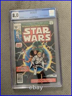 Star Wars #1 Marvel CGC 8.0 White Pages