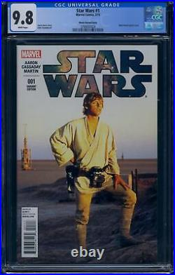 Star Wars 1 (Marvel) CGC 9.8 White Pages Mark Hamill Movie Photo Variant