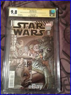 Star Wars 1 Newbury CGC SS 9.8 signed by Rick Baker, Blake, Goffe, Stone CANTINA