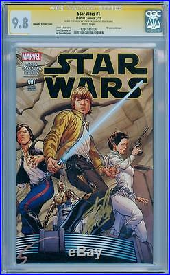 Star Wars #1 Quesada Variant Cgc 9.8 Signature Series Signed Stan Lee Marvel