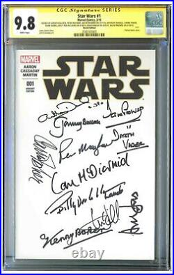 Star Wars #1 Variant Signed by 10 of the Cast CGC 9.8