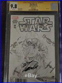 Star Wars #1 (Vol 4) 2015 CGC 9.8 SS signed by Stan Lee